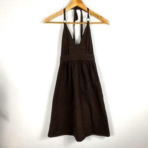 VS Bra Tops Brown Halter Top Dress Open Back XS